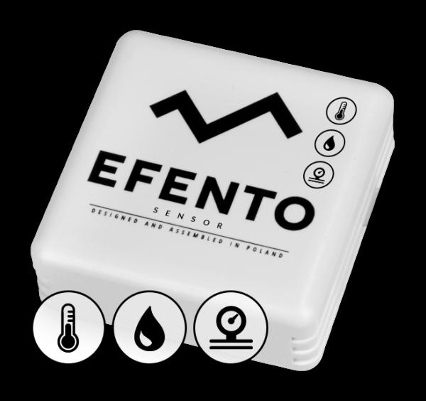 Efento BLE temperature humidity and air pressure sensor