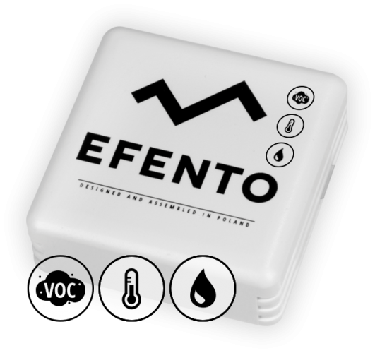 Efento BLE air quality temperature and humidity sensor