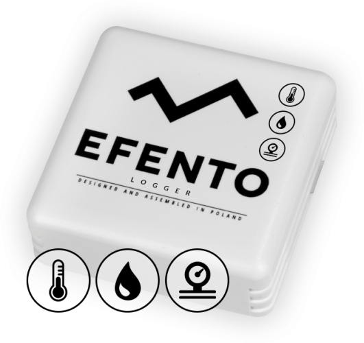 Efento BLE temperature humidity and air pressure sensor