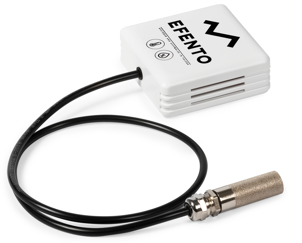 Efento BLE temperature humidity sensor with external probe