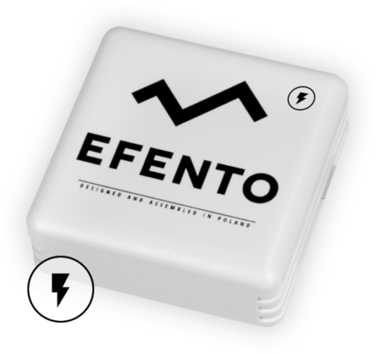 Efento electricity pulse counter sensor BLE