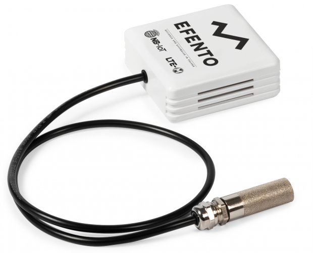 Efento LTE-M/NB-IoT temperature and humidity sensor with external probe