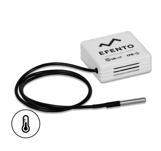 Efento LTE-M/NB-IoT low temperature sensor with external probe