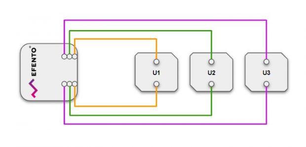 Efento pulse counter wiring scheme